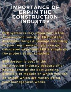 Importance Of ERP in the Construction Industry