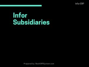 Infor Subsidiaries